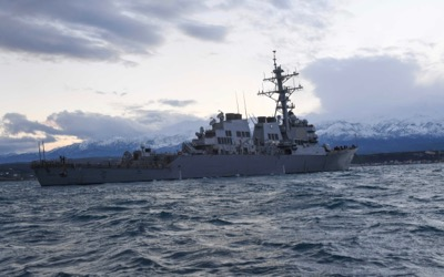 170106-N-JI086-282 SOUDA BAY, Greece (Jan. 7, 2017) The guided missile destroyer USS Porter (DDG 78) conducts an anchoring detail evolution. Porter, forward-deployed to Rota, Spain, is conducting naval operations in the U.S. 6th Fleet area of operations in support of U.S. national security interests in Europe. (U.S. Navy photo by Mass Communication Specialist Seaman Ford Williams/Released)