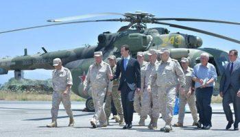 #Syrie :Le président al-Assad inspecte la base militaire de Hmeymim
