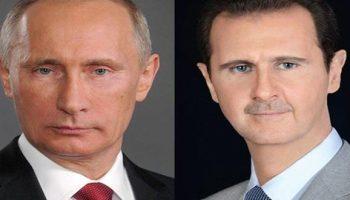 Le président al-Assad reçoit un télégramme de félicitation du président Poutine