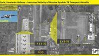 Syrie: Une nouvelle image satellite révèle l'accumulation massive d'avions de guerre russes à la base syrienne